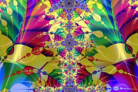 Abstract colorful design with infinite fractal patterns