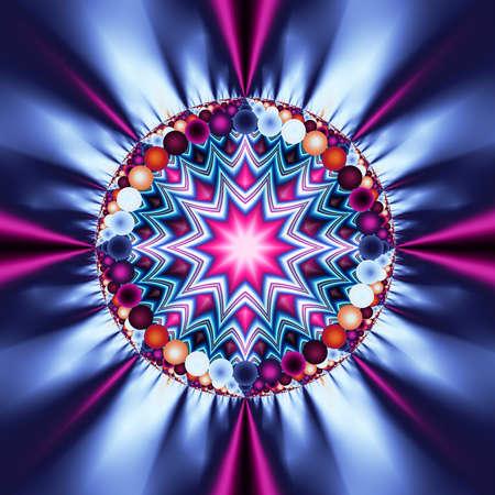 Star patterned disco ball of light fractal design