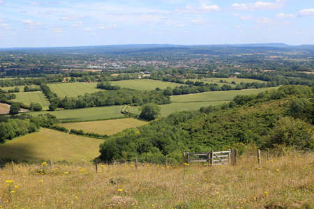 A view towards Petersfield in Hampshire from Butser Hill Фото со стока