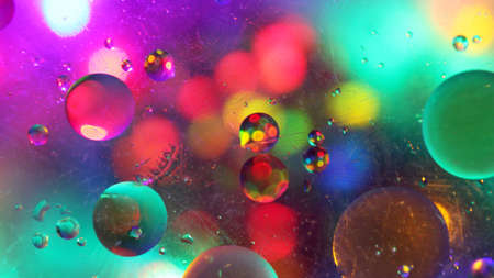 Background Texture with Colourful Bubbles and Lights Фото со стока