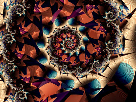 richly coloured spiral abstract design Фото со стока