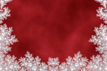 red christmas background with snowflakes Фото со стока