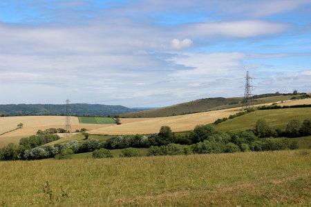 Landscape of the South Downs, England Фото со стока