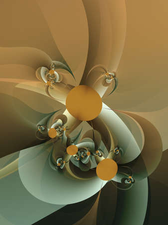 abstract repeating fractal flower shapes