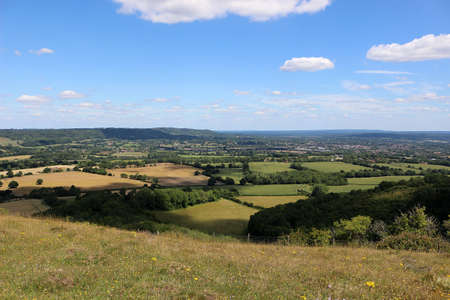 Countryside surrounding Butser Hill in Hampshire, England