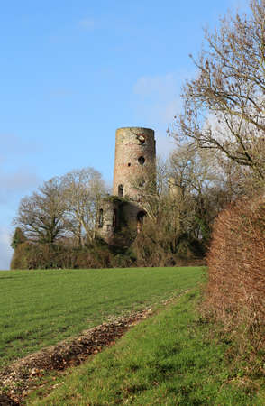 The ruins of Racton Monument near Chichester in West Sussex, England