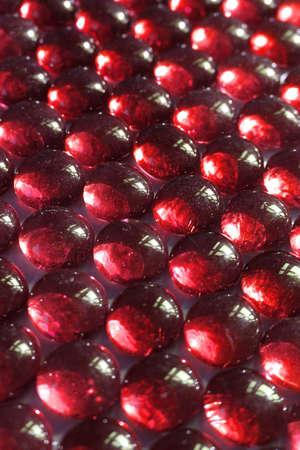 Red lozenge shapes close up
