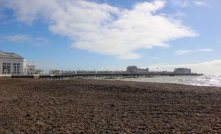 Worthing beach and Pier, West Sussex, England