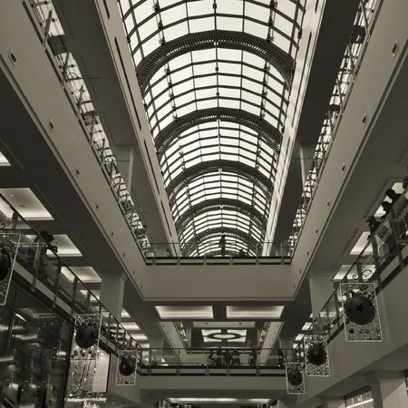 architecture: Modern architecture- Mall interior Stock Photo