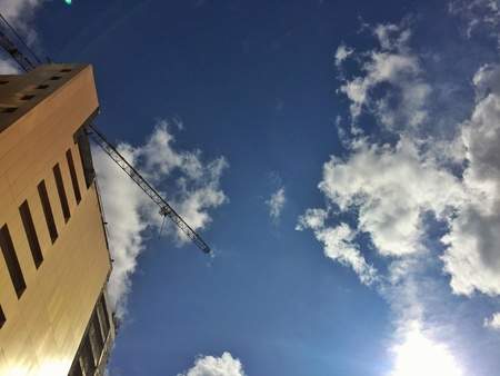 up: Looking high up in the sky