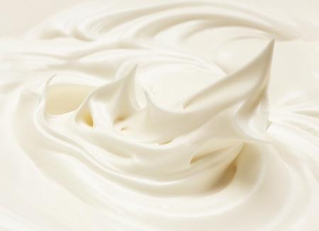 slagroom: crème meringue voor gebak. losgeklopt eiwit Stockfoto