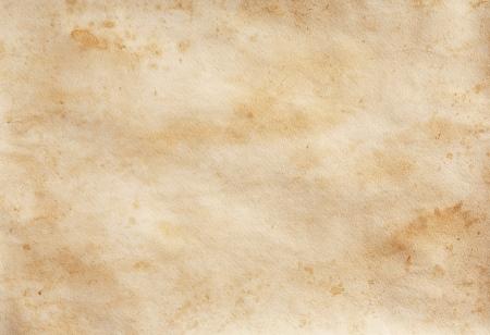 arbitrario: Las manchas amarillo-marrones en la vieja pieza de textura de papel Foto de archivo