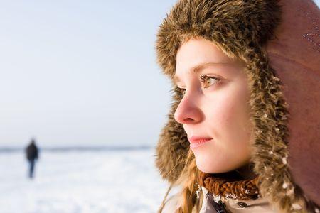 Winter girl in hat