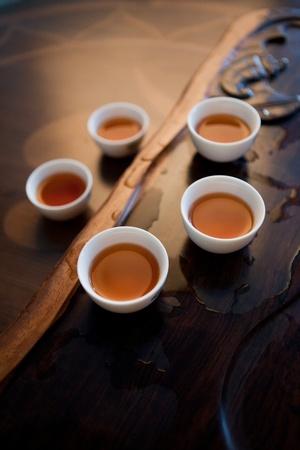 mug of tea stood around on the stand