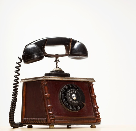 old-style phone of the early 20th century photo