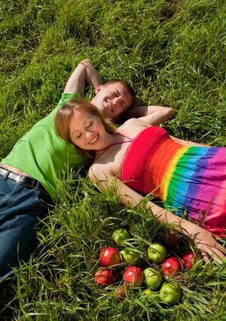 lying couple photo