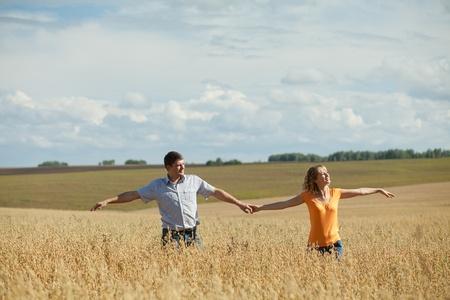 couple outdoors enjoying the fresh air photo