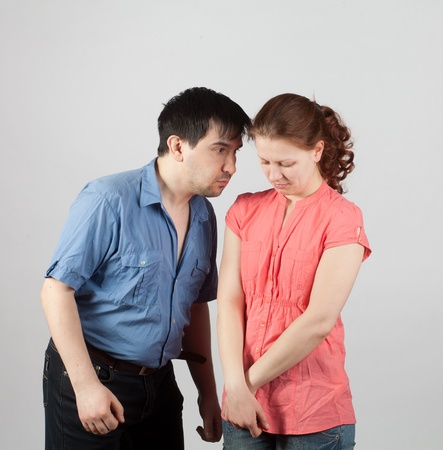 family conflict with the use of physical violence Stock Photo - 12371138