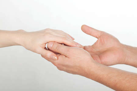 male and female hands photo
