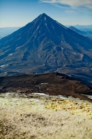 kamchatka: Koryak vulcano in Kamchatka in estate Archivio Fotografico