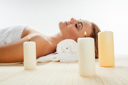 salon and spa: girl in spa salon