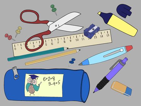 Vector illustration of Back to School.