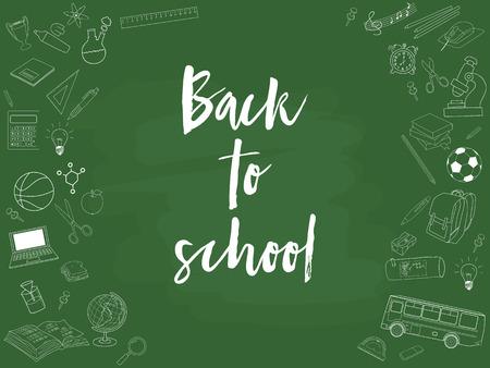 sandwich board: Vector illustration of Back to School.