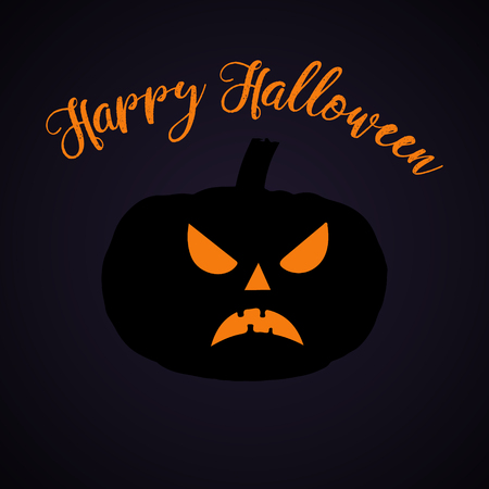 Halloween party. Pumpkin.  Halloween poster. Vector illustration. Иллюстрация