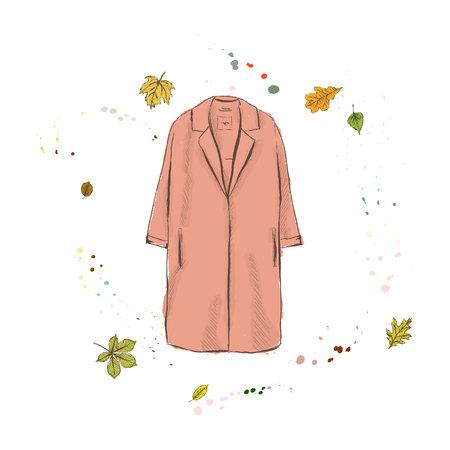 Stylish modern womens coat