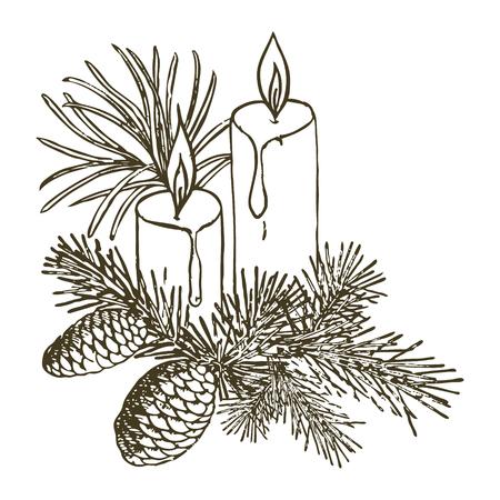Kerstdecoratie met kaarsen
