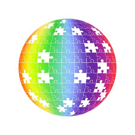 Puzzle globe design Фото со стока - 95059156