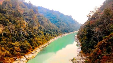 This is a landscape of the beautiful Teesta river flows bitween two mountain, siliguri tourism, Sevoke siliguri, Indian city tour