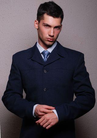 macho: Male model in suit
