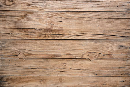 wooden table background with knots, top view