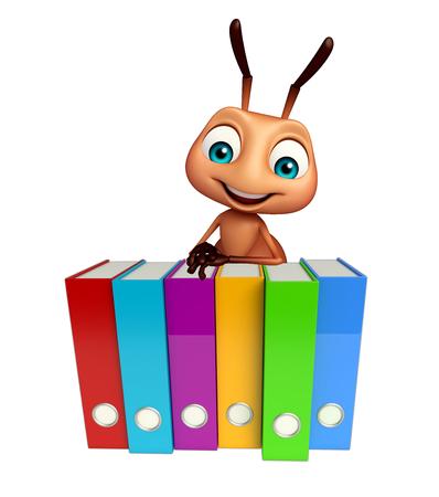 hormiga caricatura: 3d rindi� la ilustraci�n de personaje de dibujos animados con archivos Ant