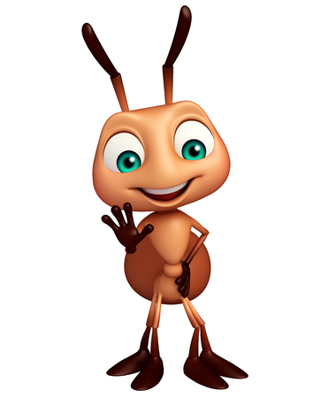 3d rendered illustration of Ant funny cartoon character