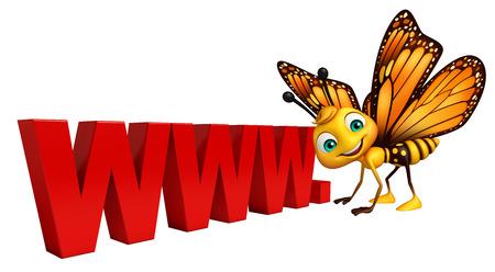 www で蝶の漫画のキャラクターの 3 d レンダリングされたイラスト。記号