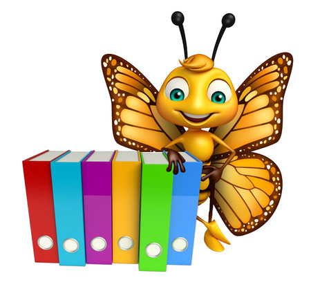 3d butterfly: 3d rendered illustration of Butterfly cartoon character with files