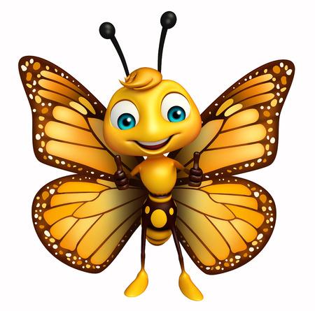 蝶の漫画のキャラクターの親指の 3 d レンダリングされたイラストレーション 写真素材 - 53166447
