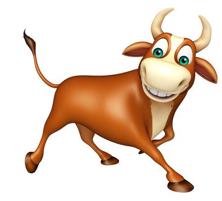 hooves: 3d rendered illustration of Bull funny cartoon character