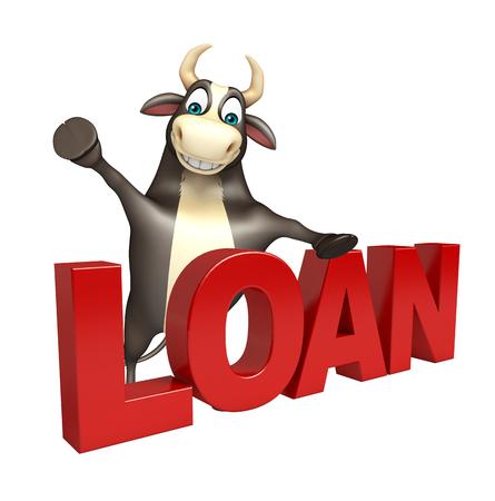 hooves: 3d rendered illustration of Bull cartoon character