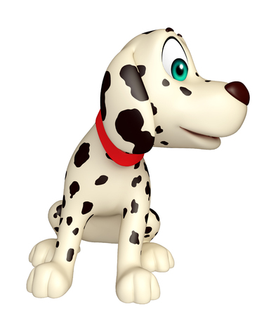 dog ears: 3d rendered illustration of Dog funny cartoon character