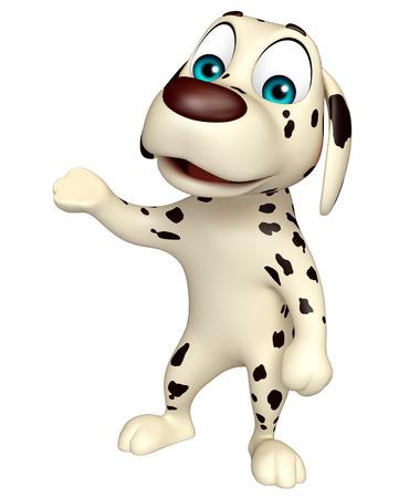cartoon dog: 3d rendered illustration of Dog funny cartoon character