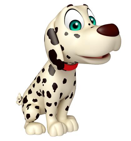 dog ear: 3d rendered illustration of Dog funny cartoon character
