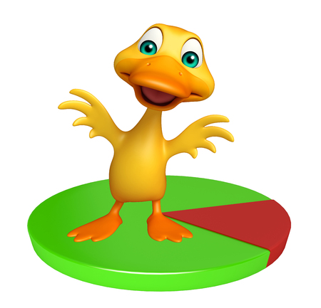 friend chart: 3d rendered illustration of Duck cartoon character with circle sign