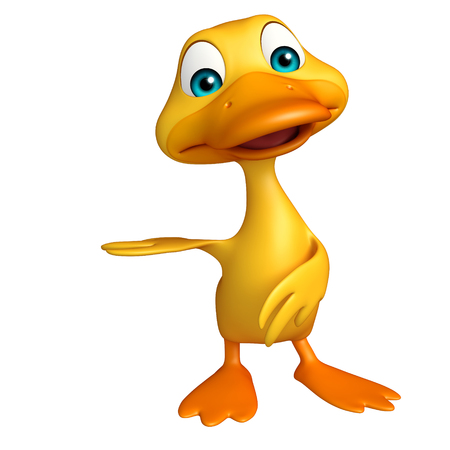 duck meat: 3d rendered illustration of Duck funny cartoon character