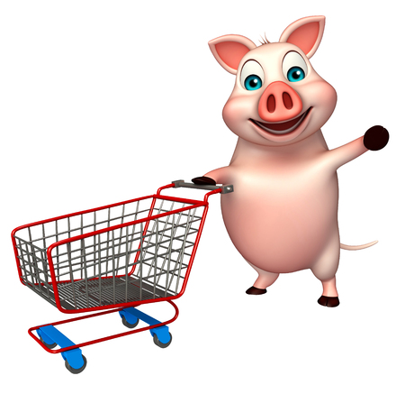 3d rendered illustration of Pig cartoon character