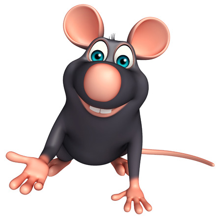 whisker characters: 3d rendered illustration of hold Rat cartoon character Stock Photo