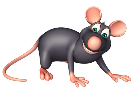 whisker characters: 3d rendered illustration of funny  Rat cartoon character