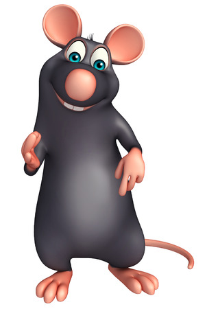 whisker characters: 3d rendered illustration of best Rat cartoon character